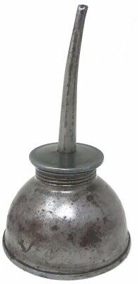 VINTAGE EAGLE METAL THUMB PUMP OIL CAN OILER MADE IN USA 8 INCHES