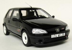 Otto-1-18-Scale-Peugeot-106-Rallye-Phase-2-Black-Resin-Model-Car
