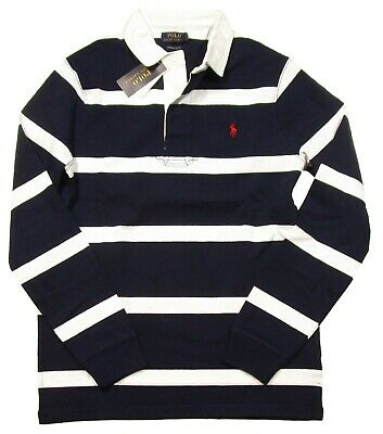 New Polo Ralph Lauren Men/'s Stripped Long Sleeve Custom Slim Fit Rugby Shirt