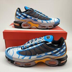 Details about Nike Air Max Plus TN Premium PRM Mens 8.5 Running Shoe Photo Blue 815994-400 NEW