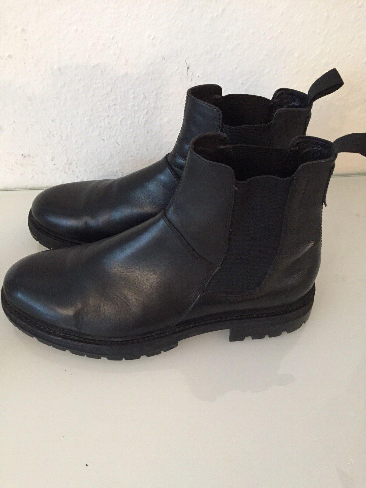 Vagabond 43 Herren Stiefel Halb Boots gr 43 Vagabond echt Leder schwarz NP a54a5c