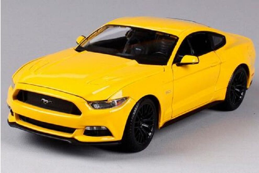 Maisto 1 18 2015 Ford Mustang GT Diecast Model Sports Racing Car Vehicle Yellow