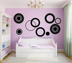 Image Is Loading Large Circles Vinyl Decal Wall Stickers Teen Girl  Part 95
