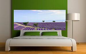 Letto Da Muro.Adesivo Testata Del Letto Decorazione Da Muro Lavanda Ref 3611 Ebay