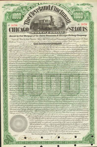 Cleveland Cincinnati Chicago St. Louis Railway > 1890 Big Four bond certificate