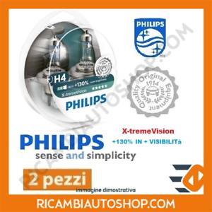 2 LAMPADINE H4 X-TREME VISION PHILIPS MITSUBISHI PAJERO PININ 1.8 KW:84 2001/>200