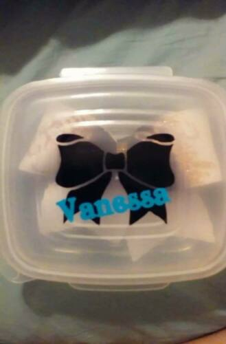 Volleyball Personalized Cheer Softball Sport Hair Bow Storage Box//Case Hinged