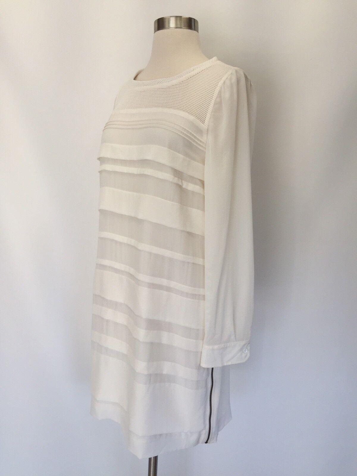 NEW J.CREW Collection Darlington Shift Silk Dress Zipper Marine Salt Ivory Sz 6