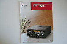 ICOM-726 (GENUINE BROCHURE ONLY)...........RADIO_TRADER_IRELAND.