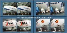 22 original Stereofotos vom Luftschiff Zeppelin NT, welches nach Japan fuhr