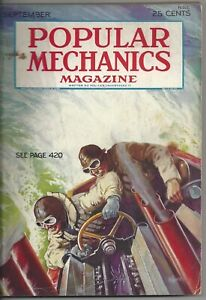 Magazine Popular Mechanics September 1931 Race Car Engines Air Mail