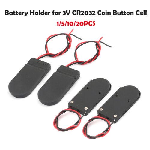 Support de pile pour pile bouton CR2032 avec ON-OFF interrupteur Pour CR2032