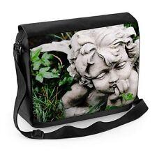 Angel Statue in Grass Laptop Messenger Bag - Angels