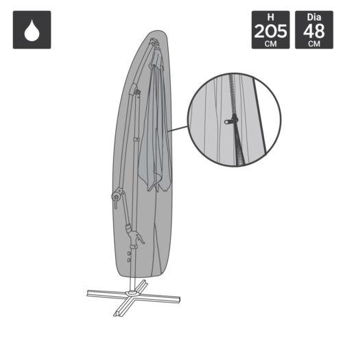 Charles Bentley Deluxe Banana Ombrello Parasole Cover-nero 600D PVC Impermeabile