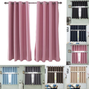 Details about Eyelet Thermal Insulated Blackout Small Window Curtain Blind  Bedroom Kitchen NEW