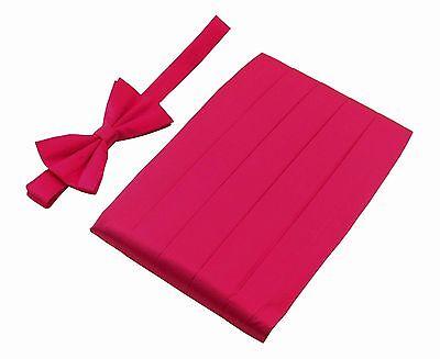 GIFTS/_Men/'s Premium 100/% Pure Silk Cummerbund /& Bow Tie Set MULTI COLORS