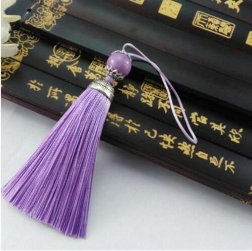 use for earring bookmark runner dress 1,10 pcs V06 10cm Long tassel Ball Gem