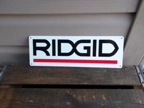 RIDGID Metal Sign Power Tool Rugged Jobsite Tools Contractor Plumbers 4x12 50103