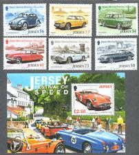 Jersey Classic Motor Cars set and Min sheet mnh