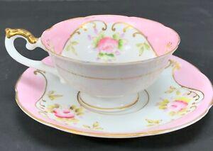 Porcelain-Demitasse-Tea-Cup-amp-Saucer-Halsey-Fifth-Avenue-Made-in-Japan-4-oz