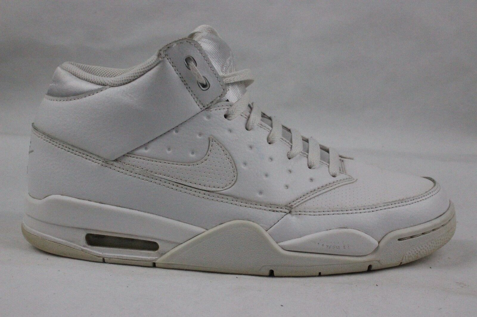 UK 10 45 Nike Men's Air Flight Classic Triple White Trainers 414967-111
