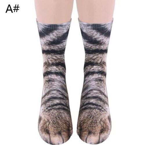 3D Print Funny Unisex Erwachsene Kinder elastische Socke Tier Paw Füße Crew