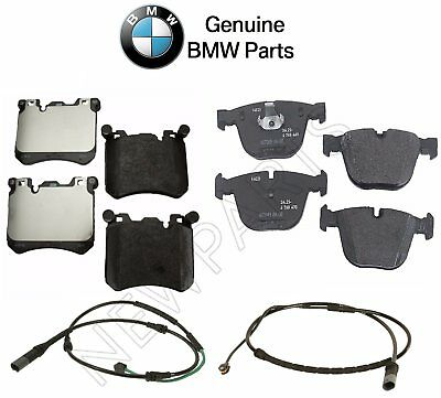 For BMW E70 E71 X6 xDrive50i Front Brake Pad Set /& Front Driver Left Sensor Ate