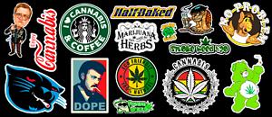 15-Weed-Marijuana-Cannabis-Parody-Vinyl-Stickers