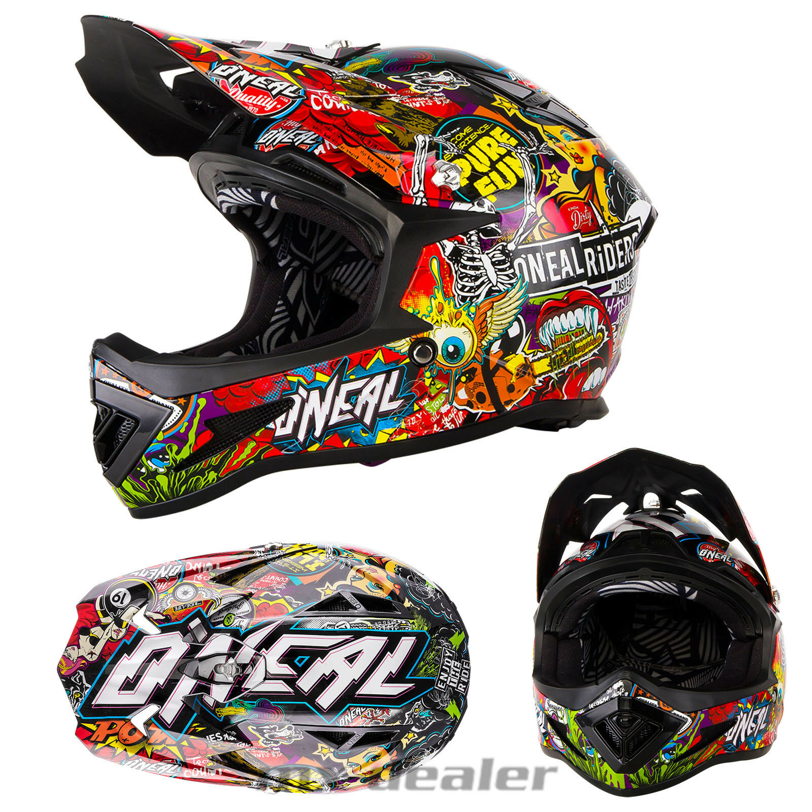 O'Neal O'Neal Warp CRANK BMX MTB DH Mountain Bike Helmet Freeride Bike Helmet