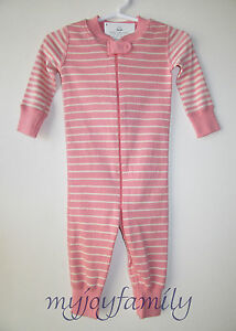 4d5f980c5 HANNA ANDERSSON Baby Organic Zip Sleeper Charming Oat Stripe 90 3T 3 ...