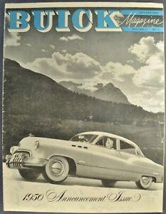 1950 Buick Roadmaster Super Special Color Brochure Catalog Prospekt