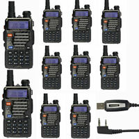 10x Baofeng Uv-5r+ Plus 136-174/400-520 Mhz Dual-band Two-way Ham Radio Cable&cd on sale