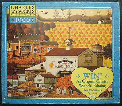 jigsaw puzzle 1000 pc Pumpkin Hollow Charles Wysocki Americana © 2003