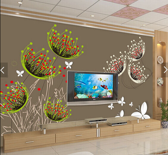 3D Graffiti Cartoon Flower 6 Paper Wall Print Wall Decal Wall Deco Indoor Murals