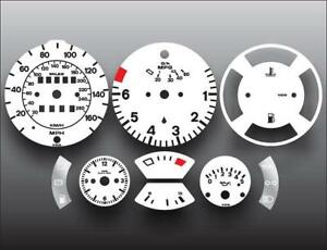1982-1985-5-Porsche-944-Dash-Instrument-Cluster-White-Face-Gauges