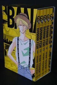 JAPAN-Akimi-Yoshida-manga-LOT-Banana-Fish-vol-1-5-Set-Reprint-BOX-vol-1
