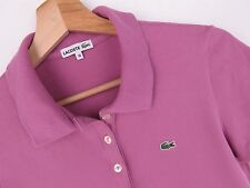 R1013 LACOSTE POLO SHIRT STRETCH TOP DEVANLAY ORIGINAL PREMIUM PINK size 38