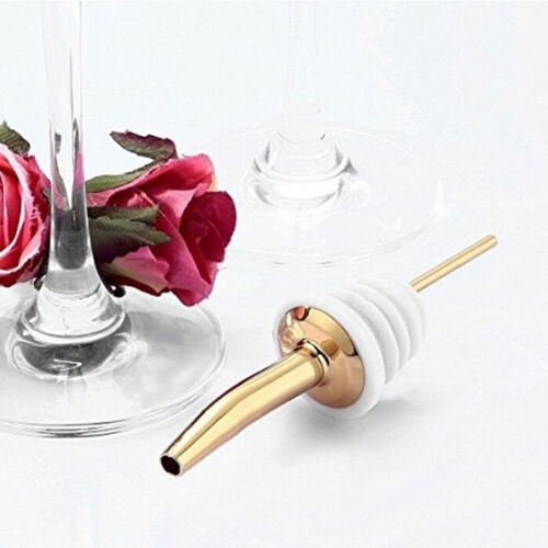 Stainless Steel Liquor Spirit Pourer Free Flow Wine Bottle Pour Spout Stopper B$