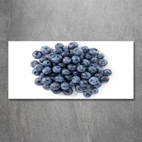 Glas-Bild Wandbilder Druck auf Glas 120x60 Deko Essen & Getränke Blaubeeren