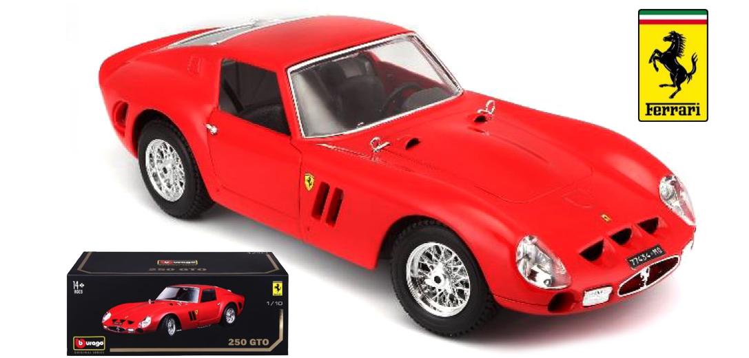 Bburago 1 18 Scale FERRARI 250 GTO-Rouge - 16602R-Limited Edition (neuf)