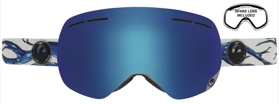 NEW Dragon X1S Form Blau Steel Mens damen Ski Snowboard Goggles +lens Ret 170