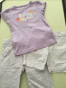 Capris Shorts,top Gymboree 3-piece Mixed Lot Girls Seersucker Outfits Size 3