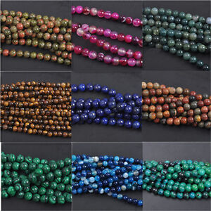 Wholesale-Lot-Jade-Natural-Gemstone-Stone-Loose-Spacer-Beads-4-6-8-10mm-Findings