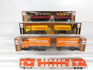 CG560-0,5# 3x Herpa H0/1:87 LKW Mercedes/MB: 806320+806372 Shell+811294 NEUW+OVP