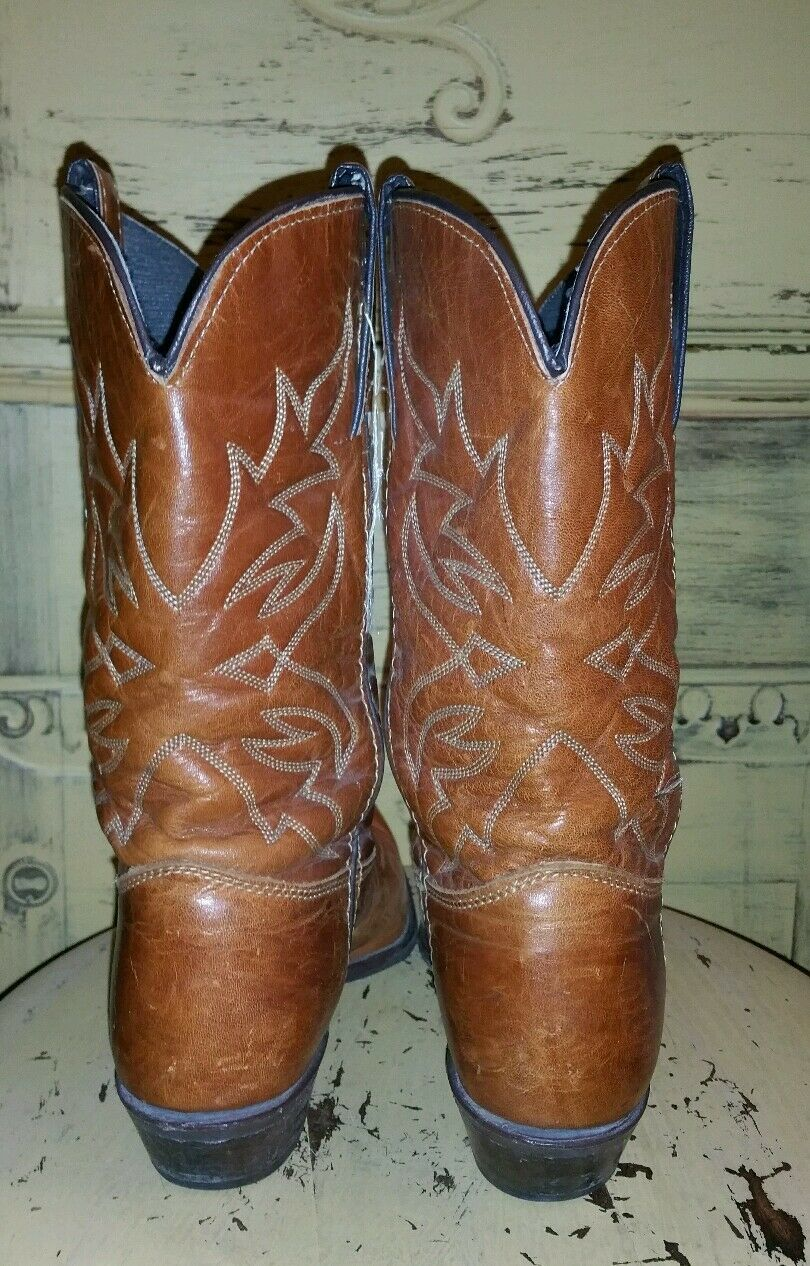 VINTAGE WRANGLER BROWN LEATHER LADIES SNIP TOE POINTED COWBOY BOOTS BOOTS BOOTS 6.5 WESTERN 165c67