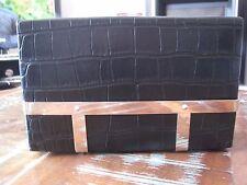 ALEXANDER McQUEEN RARE BLACK CAGE CROCODILE STAMPED HARD CASE CLUTCH BAG