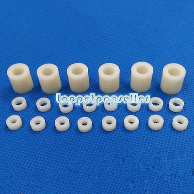 20/50/100Pcs M4 Screw Nylon ABS Round Column Spacer Washer Not-Threaded