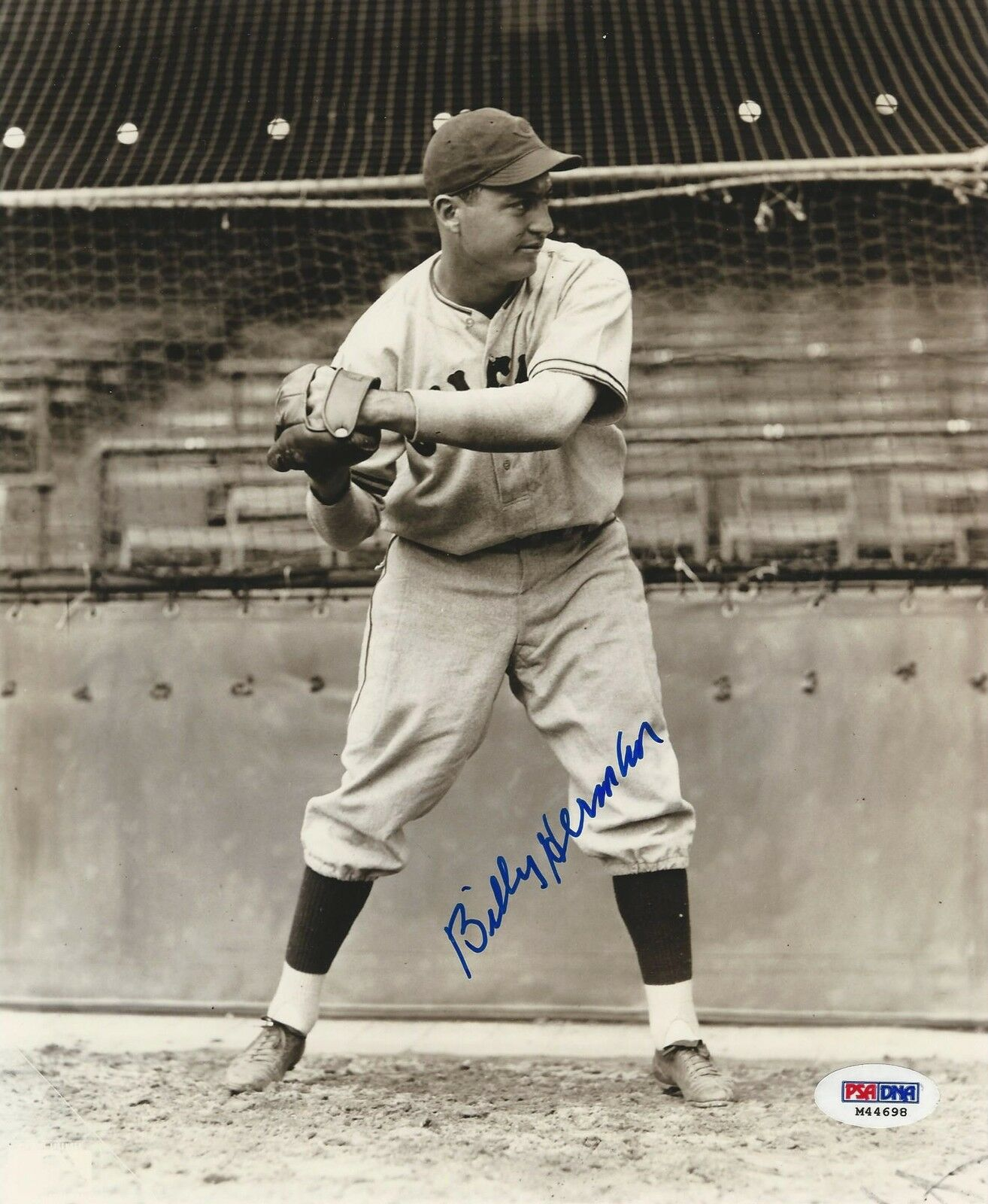 Billy Herman Brooklyn Dodgers signed 8x10 photo PSA/DNA #M44670