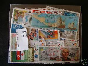 50 Timbres Drapeaux : 50 Timbres Tous DiffÉrents / Stamps Flags Surface LustréE
