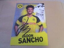Jadon Sancho Borussia Dortmund BVB Autogrammkarte 2018/2019 2018/19 18/19.